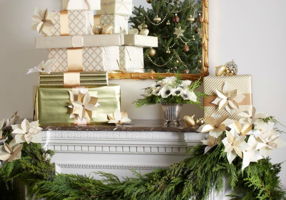 how to decorate a christmas mantel diy decorator
